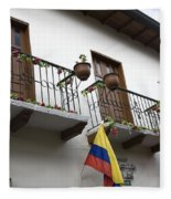 Balconies And Flags Fleece Blanket