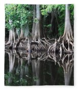 Bald Cypress Trees Along The Withlacoochee River Fleece Blanket