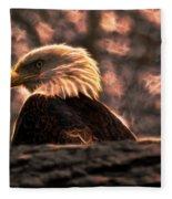 Bald Eagle Electrified Fleece Blanket