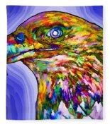 Bald Eagle Face Fleece Blanket