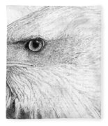 Bald Eagle Profile Fleece Blanket