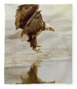 Bald Eagle Series #1 - Eagle Is Landing Fleece Blanket
