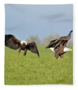 Bald Eagles Fleece Blanket