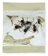 Bald Faced Hornets Fleece Blanket