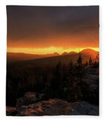 Bald Mountain Sunset Fleece Blanket
