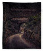 Balduinstein Castle_gateway Fleece Blanket