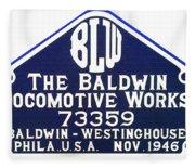 Baldwin Diesel Builders Plate Fleece Blanket