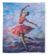 Ballet Dancer Fleece Blanket