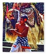 Bali Barong And Kris Dance  - Paint Fleece Blanket