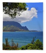 Bali Hai Hawaii Fleece Blanket