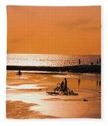 Bali, Sunset Fleece Blanket