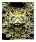 Bali Temple Art Fleece Blanket