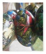 Bali Wooden Eggs Artwork Fleece Blanket