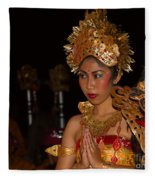 Balinese Dancer Fleece Blanket