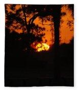 Ball Of Fire Fleece Blanket