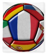 Ball With Flag Of France In The Center Fleece Blanket