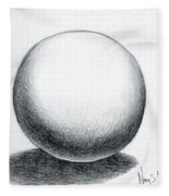Ball With Shadow Fleece Blanket