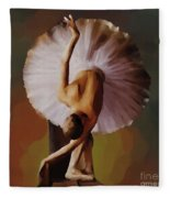 Ballerina Art 0421 Fleece Blanket