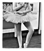 Ballerina B W Fleece Blanket