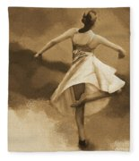 Ballerina Dance 0530 Fleece Blanket