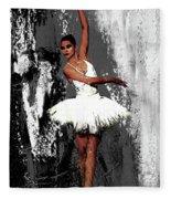 Ballerina Dance 073 Fleece Blanket