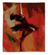 Ballerina Dance 0800 Fleece Blanket