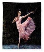 Ballerina Dancing Expressive Fleece Blanket