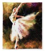Ballerina Girl Fleece Blanket