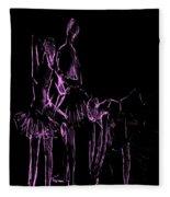 Ballet Before The Curtain Rises  Fleece Blanket