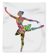 Ballet Dancer-colorful Fleece Blanket