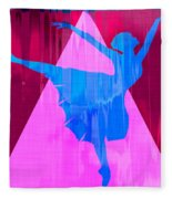 Ballet Dancer Fleece Blanket