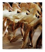Ballet Dancers 05 Fleece Blanket