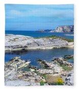 Ballintoy Harbour, Co Antrim, Ireland Fleece Blanket