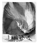 Balloon Accident, 1850 Fleece Blanket