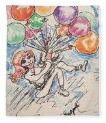 Balloon Flight  Fleece Blanket
