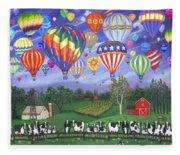Balloon Race Two Fleece Blanket