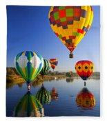 Balloon Reflections Fleece Blanket