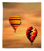 Balloons In The Morning Fleece Blanket