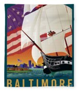 Baltimore - By The Dawns Early Light Fleece Blanket