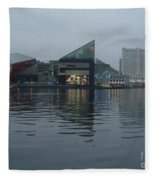 Baltimore Harbor Reflection Fleece Blanket