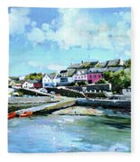 Baltimore Harbour County Cork Fleece Blanket