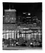 Baltimore Lights Up Brightly Fleece Blanket