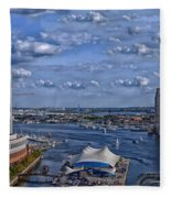Baltimore Maryland Inner Harbor Fleece Blanket
