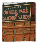 Baltimore Orioles Park At Camden Yards Fleece Blanket