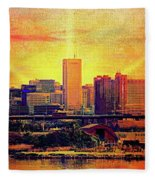 Baltimore Sunrise Fleece Blanket