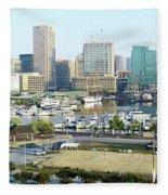 Baltimore's Inner Harbor Fleece Blanket