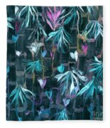 Bamboo And Butterflies Fleece Blanket