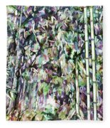 Bamboo Background In Nature Fleece Blanket