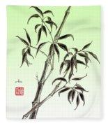 Bamboo Drawing  Fleece Blanket