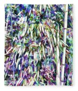 Bamboo Forest Background Fleece Blanket